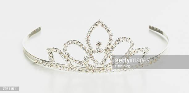 Silver tiara, studio shot