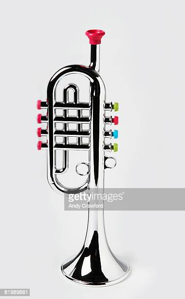 Toy trumpet stock photos and pictures getty images silver toy trumpet close up sciox Choice Image
