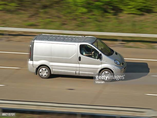 Silver van on an urgency delivery
