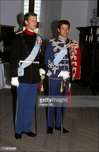 Silver wedding ceremony of Margrethe and Henrik of Denmark in Denmark on June 10 1992Frederik and Joachim of Denmark
