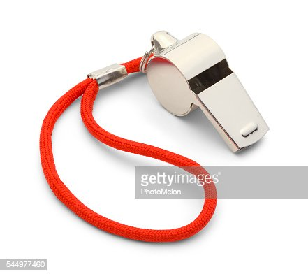 Silver Whistle : Stock Photo