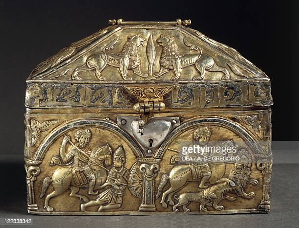 Silversmith's art Poland 12th century Embossed silver reliquary of Saint Stanislaus