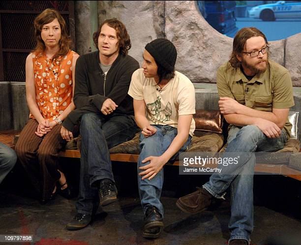 Silversun Pickups during Donald Faison Silversun Pickups and Maroon 5 Visit Fuse's 'The Sauce' May 17 2007 at Fuse Studios in New York City New York...