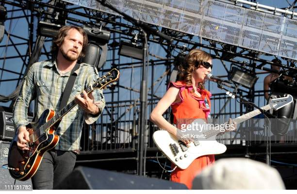 Silversun Pickups performs at the 2009 KROQ Weenie Roast Y Fiesta at the Verizon Wireless Amphitheater on May 16 2009 in Irvine California