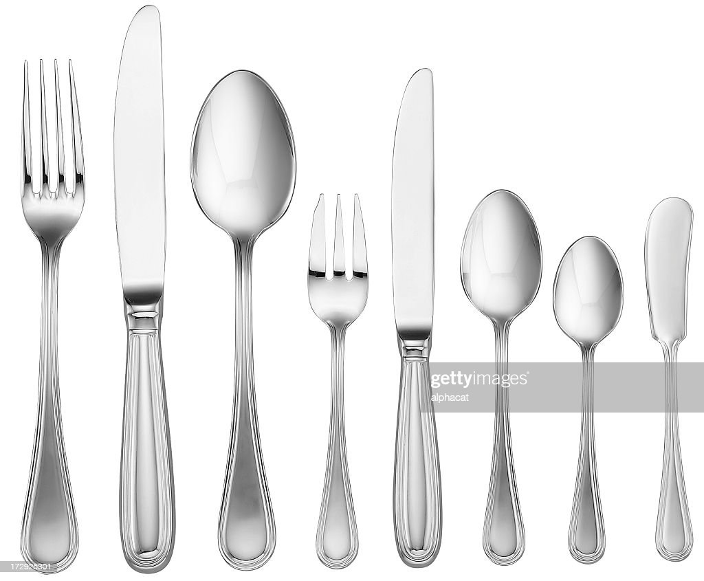 Silverware Set (with clipping path)