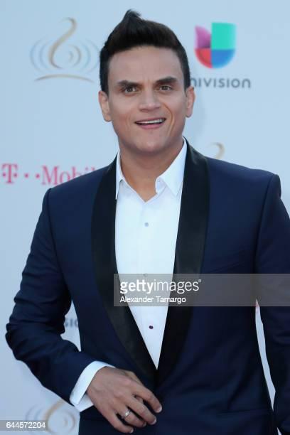 Silvestre Dangond attends Univision's 29th Edition of Premio Lo Nuestro A La Musica Latina at the American Airlines Arena on February 23 2017 in...