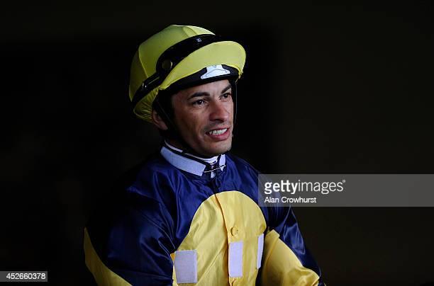 Silvestre De Sousa poses at Ascot racecourse on July 25 2014 in Ascot England