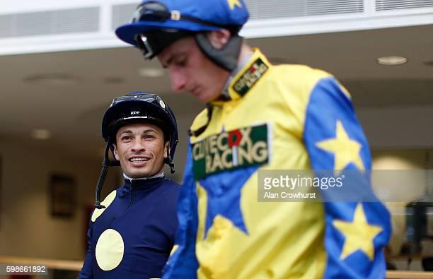 Silvestre De Sousa poses at Ascot Racecourse on September 02 2016 in Ascot England