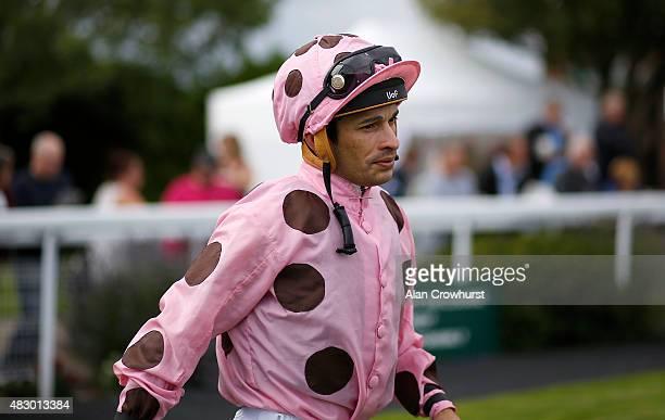 Silvestre De Sousa poses at Brighton racecourse on August 05 2015 in Brighton England