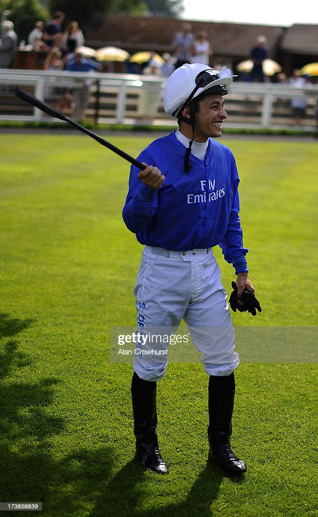 Silvestre De Sousa poses at Leicester racecourse on July 18, 2013 in Leicester, England.