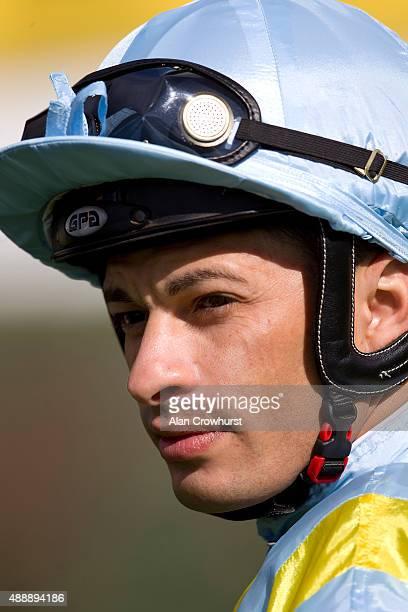 Silvestre De Sousa poses at Newbury racecourse on September 18 2015 in Newbury England