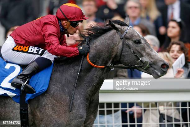 Silvestre De Sousa riding Frozen Angel win The Sodexo Conditions Stakes at Ascot Racecourse on May 3 2017 in Ascot England