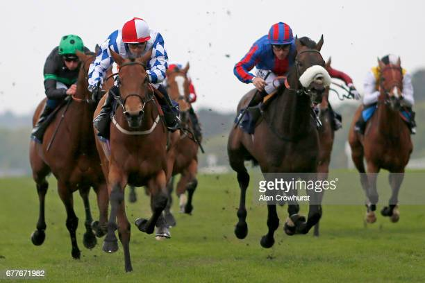 Silvestre De Sousa riding Sweet Selection win The Longines Sagaro Stakes at Ascot Racecourse on May 3 2017 in Ascot England