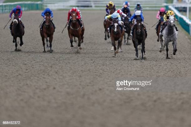 Silvestre De Sousa riding Winning Story win The Betway AllWeather Marathon Championships Conditions Stakes during The All Weather Championships...