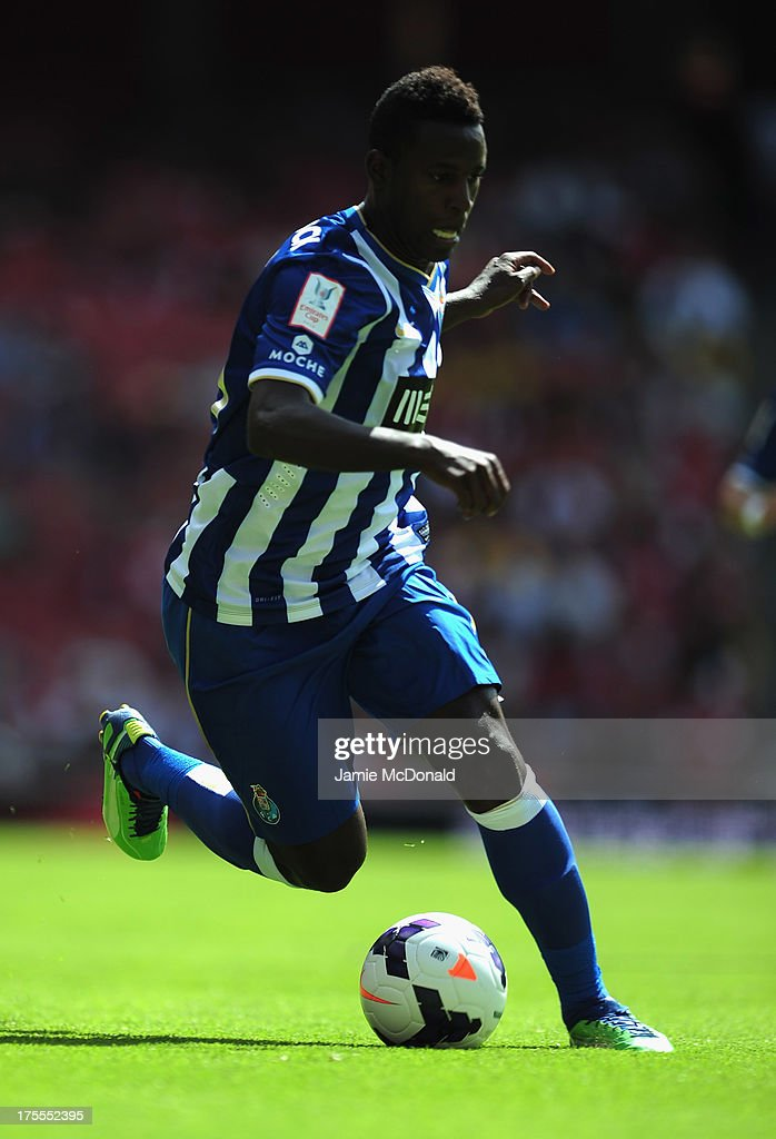 Silvestre Varela of FC Porto in action during the Emirates Cup match between Napoli and FC Porto at the Emirates Stadium on August 4, 2013 in London, England.
