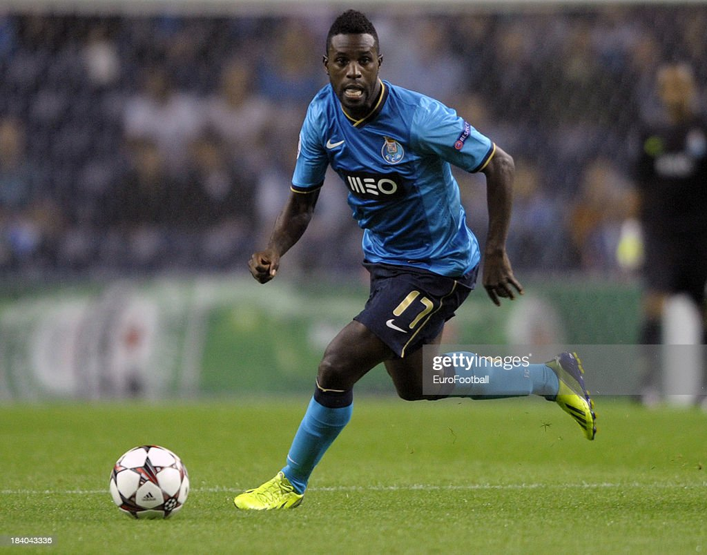 <a gi-track='captionPersonalityLinkClicked' href=/galleries/search?phrase=Silvestre+Varela&family=editorial&specificpeople=607288 ng-click='$event.stopPropagation()'>Silvestre Varela</a> of FC Porto in action during the UEFA Champions League group stage match between FC Porto and Club Atletico de Madrid held on October 1, 2013 at the Estadio do Dragao, in Porto, Portugal.