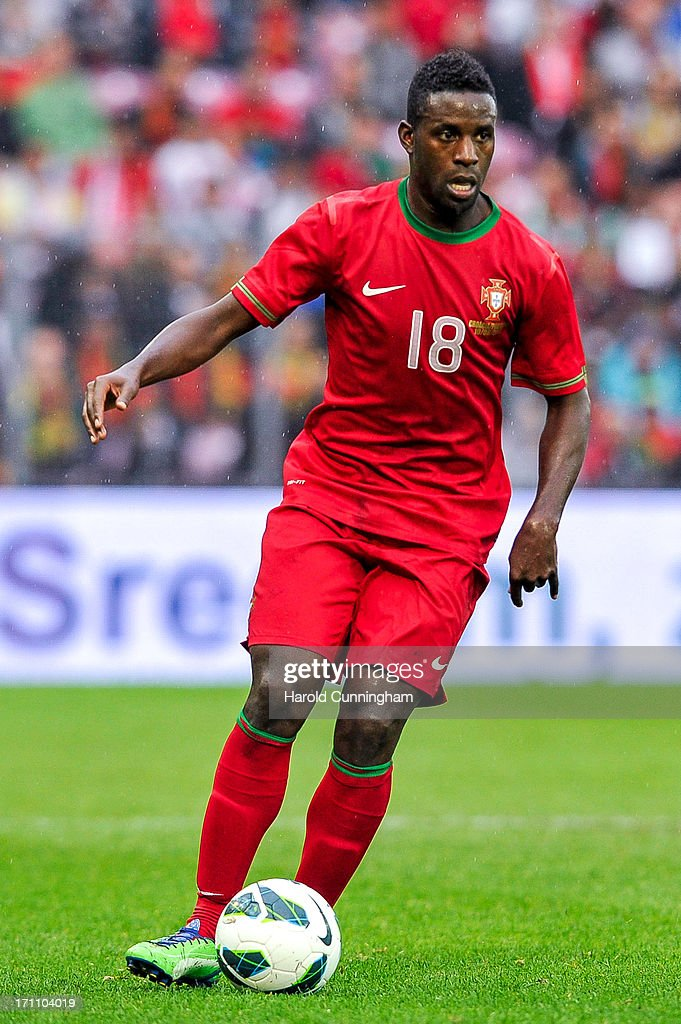<a gi-track='captionPersonalityLinkClicked' href=/galleries/search?phrase=Silvestre+Varela&family=editorial&specificpeople=607288 ng-click='$event.stopPropagation()'>Silvestre Varela</a> of Portugal in action during the international friendly match between Portugal and Croatia on June 10, 2013 in Geneva, Switzerland.