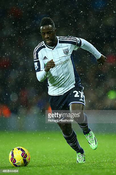Silvestre Varela of West Brom in action during the Barclays Premier League match between West Bromwich Albion and Manchester City at The Hawthorns on...