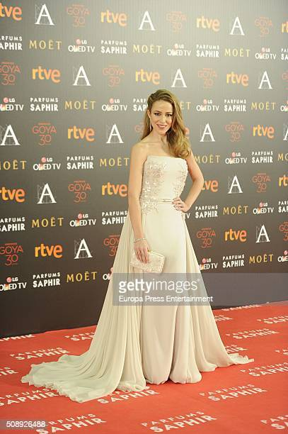 Silvia Abascal attends Goya Cinema Awards 2016 at Madrid Marriott Aud