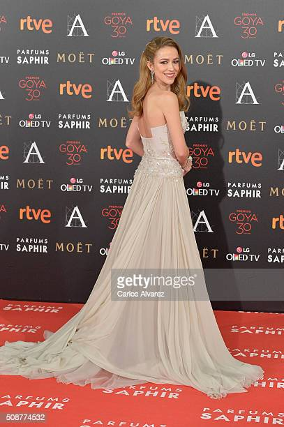 Silvia Abascal attends Goya Cinema Awards 2016 at Madrid Marriott Auditorium on February 6 2016 in Madrid Spain