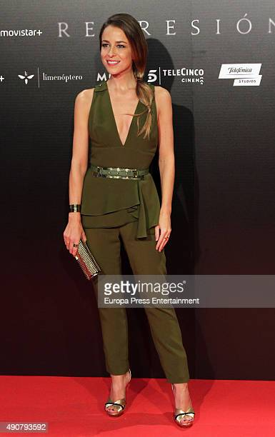 Silvia Abascal attends 'Regression' premiere on September 30 2015 in Madrid Spain