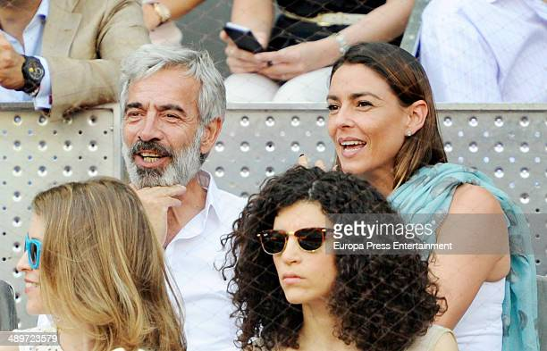 Silvia Abascal Imanol Arias Irene Visedo and Irene Meritxell attend Mutua Madrid Open at La Caja Magica on May 11 2014 in Madrid Spain