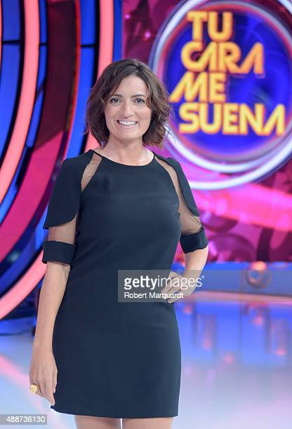 Silvia Abril attends a press presentation for the 4th season of 'Tu Cara Me Suena' at the Antena 3 studios on September 17 2015 in Barcelona Spain