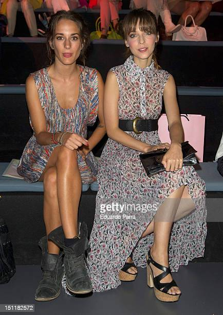 Silvia Alonso and Leticia Dolera attend a fashion show during the Mercedes Benz Madrid Fashion Week Spring/Summer 2013 at Ifema on September 3 2012...