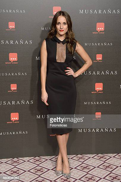 Silvia Alonso attends the 'Musaranas' Premiere at the Capitol Cinema on December 17 2014 in Madrid Spain