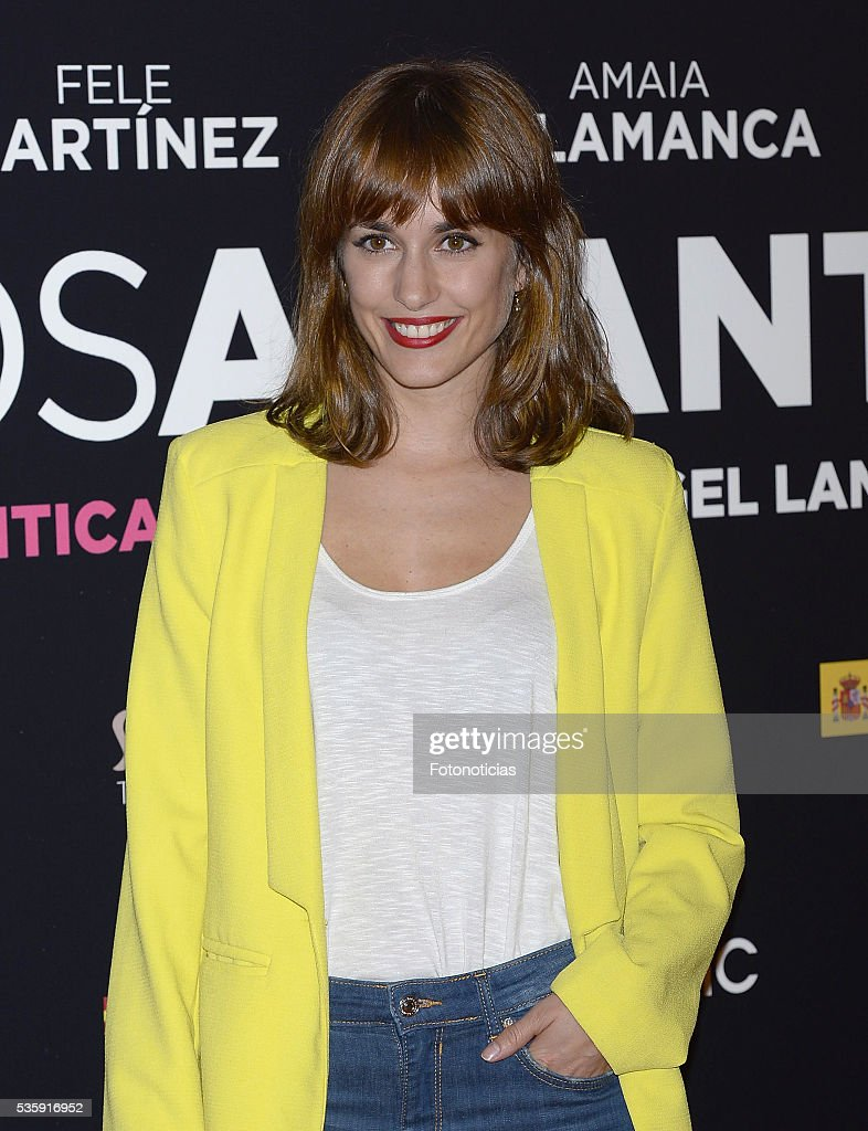 Silvia Alonso attends the 'Nuestros Amantes' premiere at Palafox cinema on May 30, 2016 in Madrid, Spain.