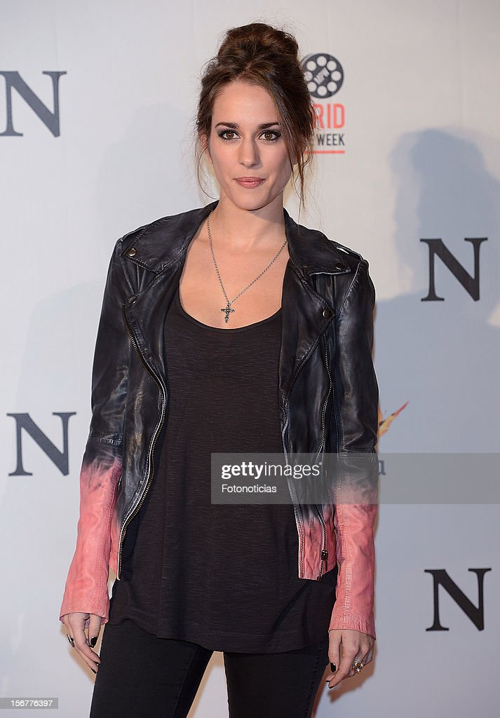 Silvia Alonso attends the premiere of 'Fin' at Callao Cinema on November 20, 2012 in Madrid, Spain.
