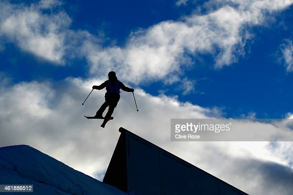 Silvia Bertagna of Italy competes in the Women's Freestyle Skiing Slopestyle Final of the FIS Freestyle Ski and Snowboard World Championships 2015 on...
