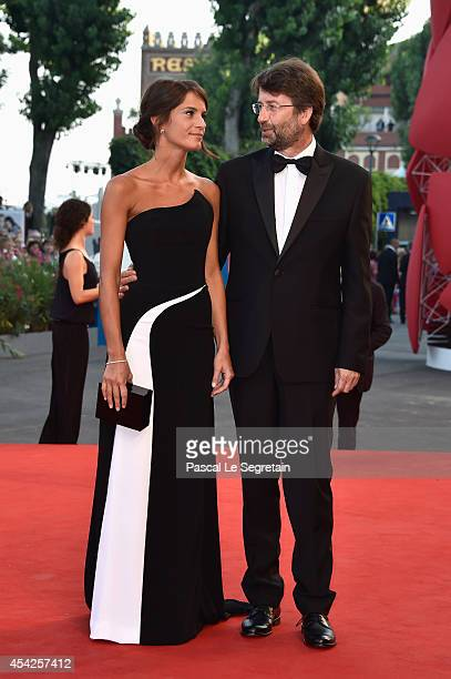Silvia Bombardi and Dario Franceschini attend the Opening Ceremony and 'Birdman' premiere during the 71st Venice Film Festival on August 27 2014 in...