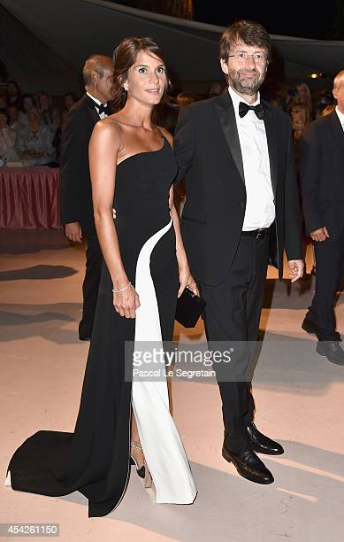 Silvia Bombardi and Dario Franceschini attend the Opening Dinner during the 71st Venice Film Festival on August 27 2014 in Venice Italy
