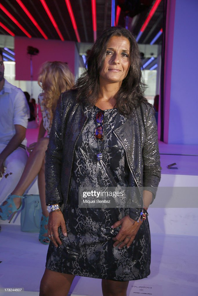 Silvia Calvet attends the Custo Dalmau's Spring-Summer 2014 Collection during 080 Barcelona Fashion Week on July 10, 2013 in Barcelona, Spain.