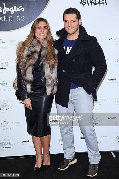 Silvia Casas and her husband Manu Tenorio attend the 'New Gourmet Experience' opening party at 'El Corte Ingles' store on January 12 2015 in Madrid...