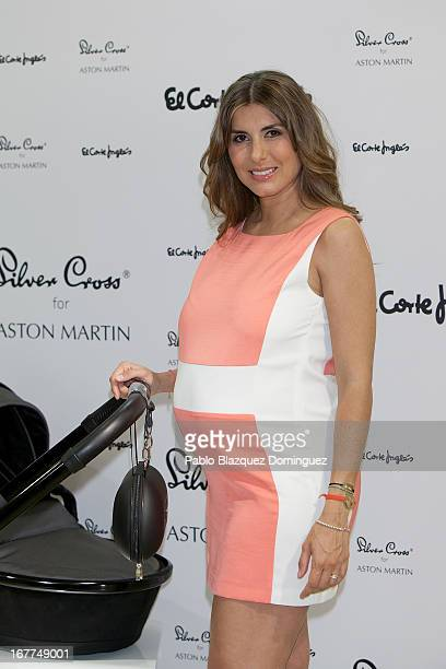 Silvia Casas presents Surf strollers by Aston Martin at EL Corte Ingles on April 29 2013 in Madrid Spain