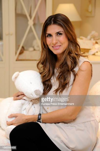 Silvia Casas several months pregnant is the new image for the children clothes shop 'Piccolo Mondo' on December 13 2012 in Madrid Spain
