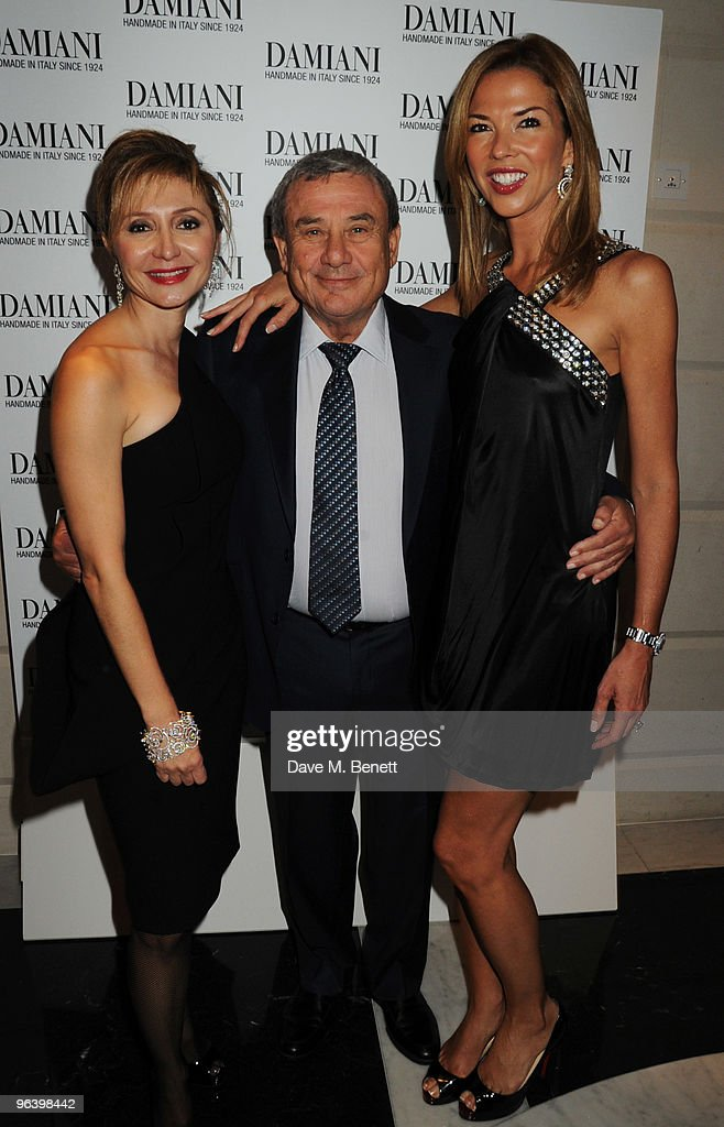 Silvia Damiani and Sol and Heather Kerzner attend the Damiani Jewellery party at The Connaught Hotel on February 3 2010 in London England