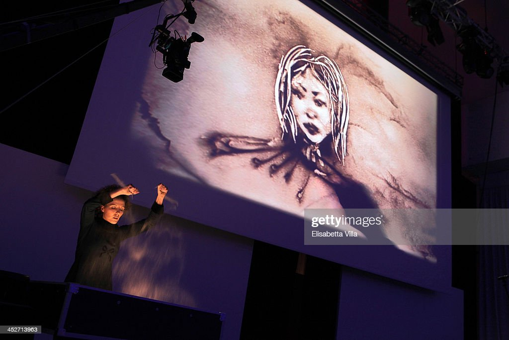 Silvia Emme performs on stage during The Children For Peace Benefit Gala Ceremony at Spazio Novecento on November 30, 2013 in Rome, Italy.