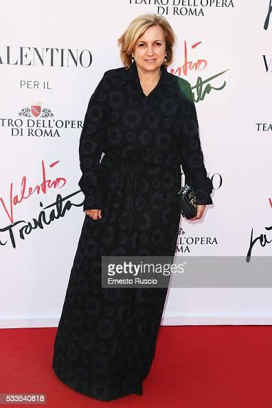 Silvia Fendi attends the 'La Traviata' Premiere at Teatro Dell'Opera on May 22 2016 in Rome Italy