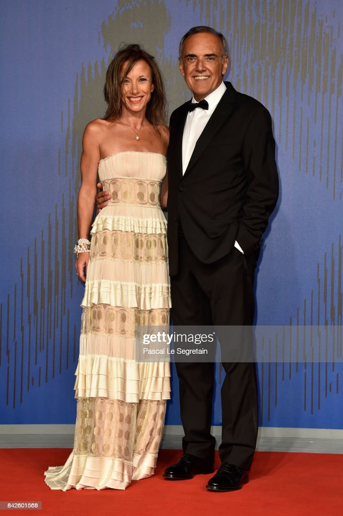 Silvia Grilli and Alberto Barbera walk the red carpet ahead of the 'Woodshock' screening during the 74th Venice Film Festival at Sala Giardino on September 4, 2017 in Venice, Italy.