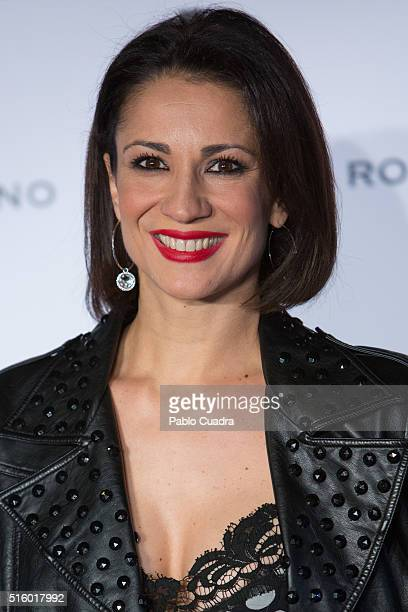 Silvia Jato attends a cocktail reception hosted by the designer Roberto Verino to present his new collection at 'Platea' on March 16 2016 in Madrid...