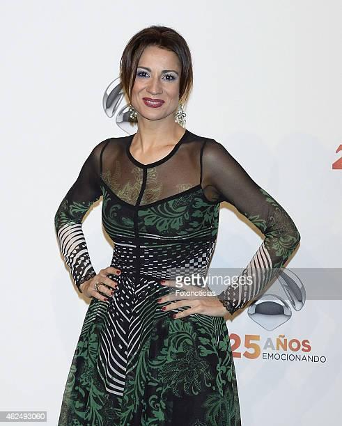 Silvia Jato attends 'Antena 3' 25th Anniversary Reception at the Palacio de Cibeles on January 29 2015 in Madrid Spain