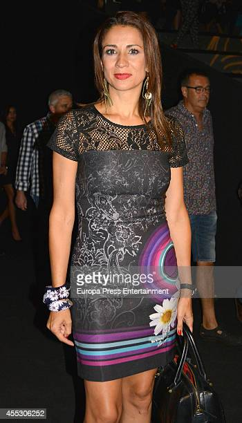 Silvia Jato attends Desigual show during Mercedes Benz Fashion Week Madrid on September 11 2014 in Madrid Spain