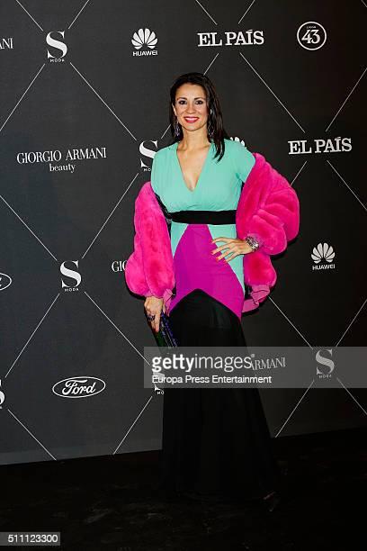 Silvia Jato attends 'S Moda' Awards 2016 at Real Academia de Bellas Artes de San Fernando on February 17 2016 in Madrid Spain