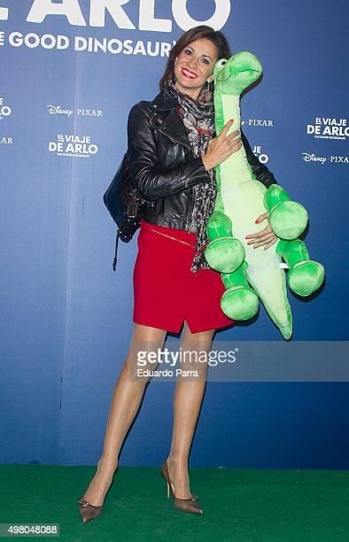 Silvia Jato attends 'The good dinosaur' premiere at Capitol cinema on November 20 2015 in Madrid Spain