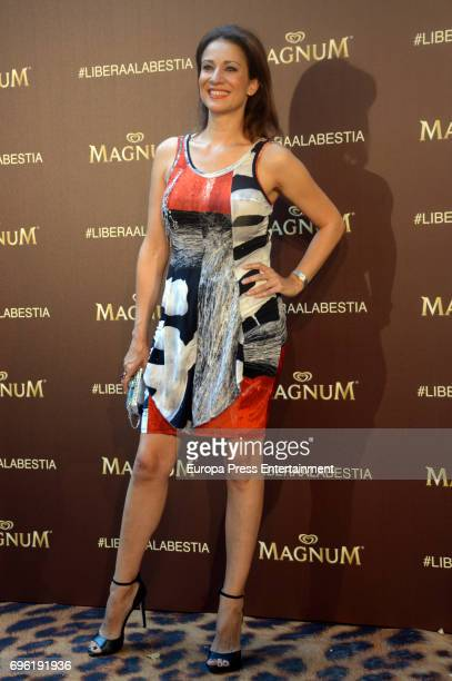 Silvia Jato attends the Magnum new campaign presentation party at the Palacete de Fortuny on June 14 2017 in Madrid Spain