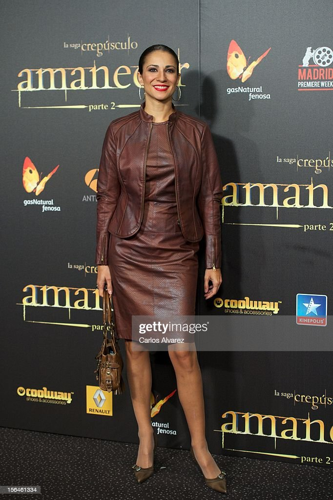 Silvia Jato attends the 'The Twilight Saga: Breaking Dawn - Part 2' (La Saga Crepusculo: Amanecer Parte 2) premiere at the Kinepolis cinema on November 15, 2012 in Madrid, Spain.