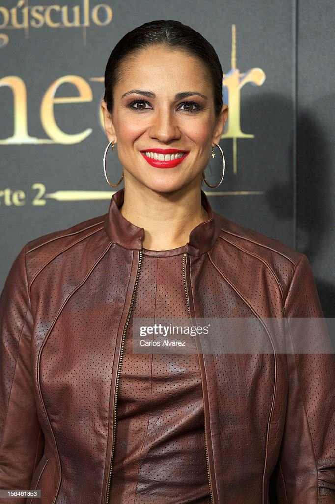 Silvia Jato attends the 'The Twilight Saga: Breaking Dawn - Part 2' (La Saga Crepusculo: Amanecer Parte 2) premiere at the Kinepolis cinema on November 15, 2012 in Madrid, Spain.